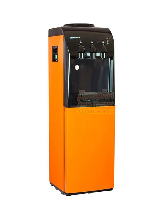Кулер для воды Винил оранжевый со шкафчиком