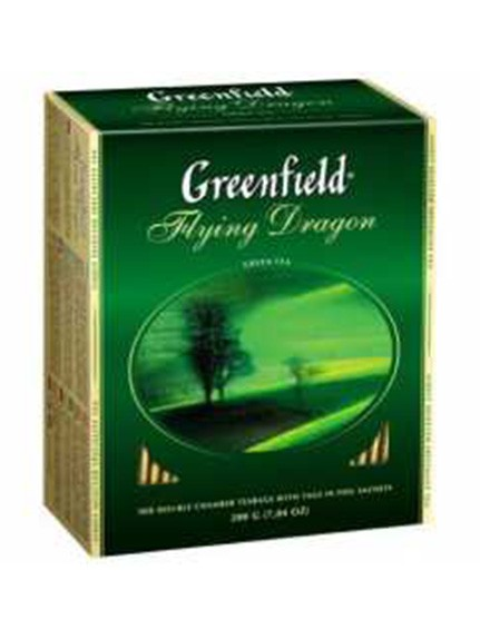 Чай «Гринфилд Флайнг Драгон» Зеленый, 100 пак