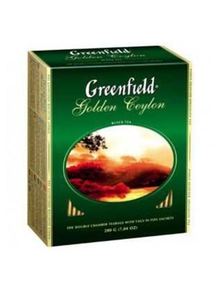 Чай Гринфилд Голден Цейлон, 100 пак